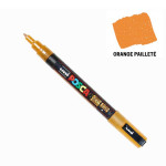 Marqueur PC-3M pailleté pointe conique fine - Orange