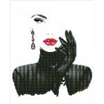 Kit tableau Strass Diamond Dotz Lady in Black