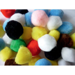 Pompons assortis Ø 35 mm 50 pcs
