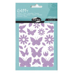 Stickers pailletés Glitty  papillons et fleurs x 66 pcs