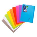 Cahier Coverbook protège-cahier intégré A4 cm Seyès 96 p