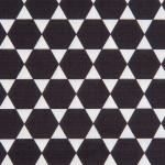 Coupon de tissu - Diamants - noir - 50 x 140 cm