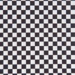 Coupon de tissu - Damier - noir - 50 x 140 cm