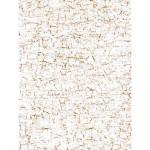 Feuille décopatch - Blanc et or craquelé - 30 x 40 cm