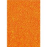 Feuille Décopatch - Effet mosaïque orange - 30 x 40 cm