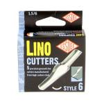 Gouge pour linogravure N6 - 5 pièces