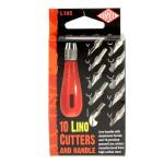 Manche pour linogravure + 10 gouges différentes