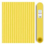 Carton ondulé média 300g - Jaune citron - 70 x 50 cm