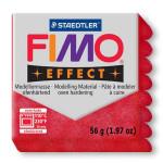 Pâte polymère Fimo Effect 56g - 202 - Rouge pailleté