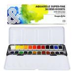 Aquarelle super-fine Boîte métal 24 demi-godets