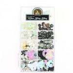 Kit de perles 11 cases assortiment noir-blanc