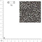 Miyuki Delicas 10/0 métallique - Gris acier DBM0021 - 4 g