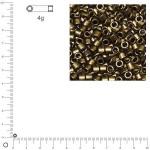 Miyuki Delicas 10/0 métallique dépoli - Topaze fumé DBM0322 MAT - 4 g