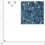 Miyuki Delicas 10/0 transparent rainbow - Bleu azur DBM0058 - 9 g