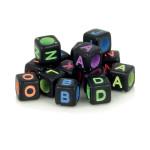 Perles alphabet noir et couleurs 6 mm x 300 pcs