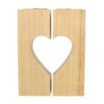 Bougeoir en bois complémentaires Cœur