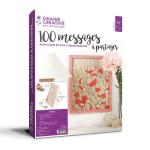 Cadre 100 messages à partager en bois 30 x 42 cm