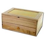 Coiffeuse en bois 6 compartiments et 1 tiroir 26 x 17,5 x 11,5 cm