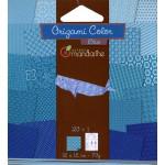 Pochette Origami Color - 12 x 12 cm -  Bleu