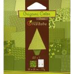 Pochette Origami Color - 12 x 12 cm -  Vert