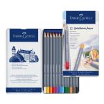 Crayon de couleur aquarellable GoldFaber Aqua - Boite de 12