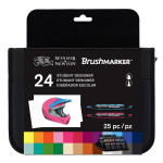 Feutre pinceau à alcool BrushMarker Trousse 24 couleurs Étudiant Designer