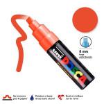 Marqueur PC-8K pointe biseautée large - Orange fluo