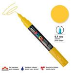 Marqueur pointe conique PC-1MC extra-fine 1mm - Jaune paille