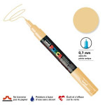 Marqueur pointe conique PC-1MC extra-fine 1mm - Beige