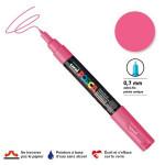 Marqueur pointe conique PC-1MC extra-fine 1mm - Rose