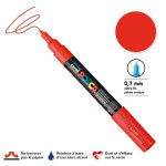 Marqueur pointe conique PC-1MC extra-fine 1mm - Rouge