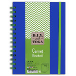 Carnet 10 x 15 cm Bicolore Vert Bleu 60 pages Vert 100 g/m² Spirale