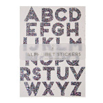 Alphabet stickers paillettes multicolore x 10 pcs