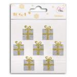 Stickers Cadeaux or et argent Oh Glitter ! 7 pièces