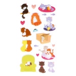 Autocollant 3D Puffies Chats