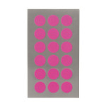 Gommettes rondes fuchsia fluo 15 mm