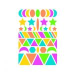 Gommettes Baby géométriques couleurs fluo