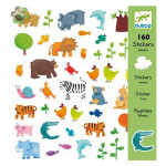 Planche d'autocollants Animaux 160 stickers