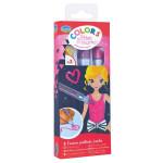 Feutre pailleté Colors glitter marker thème Fashion