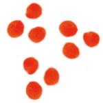 Pompons 15mm set de 60 - Orange