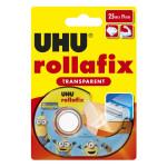 Bande adhésive Rollafix transparent 25 m x 19 mm + dévidoir