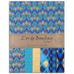 Papier L'or de Bombay Bleu violet 27,8 x 21,2 cm 6 feuilles