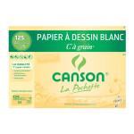 Canson C à GRAIN, Grain Fin 125g/m², pochette - 21 x 29,7 cm (A4)