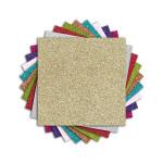 Bloc de papiers pailletés Oh Glitter ! 9 couleurs 18 feuilles 20 x 20 cm