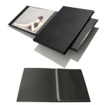Press-book Modebook noir à l'italienne + 10 pochettes