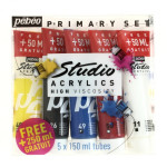 ACRYL.STUDIO SET 5X150ML PACK PRIMAIRES