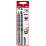 Crayons graphite Grip 2001 HB par 3 + gomme