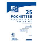 Enveloppe Kraft blanc pré-casée 162 x 229 mm 25 pcs