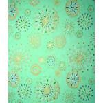 Papier Japonais 52 x 65,5 cm 100 g/m² Artifices or sur vert eau