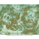 Papier Italien 50 x 70 cm 85 g/m² Marbré vert et or